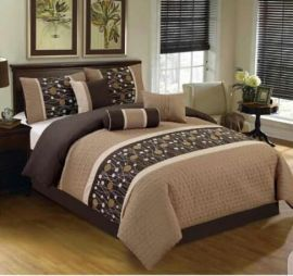 Brown Cotton Bedsheet Complete Set - 4 by 6