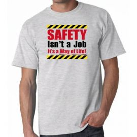 Tani Wears Safety T-shirt Ash Color