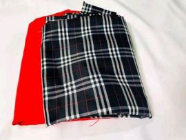 Checkered Plain and Pattern Material - Black/Red