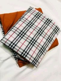 Checkered Plain and Pattern Material - Off white/Brown
