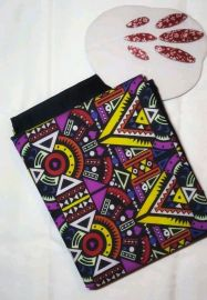 Multicolored Plain and Pattern Material