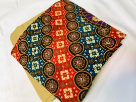 Plain and Pattern Material - Multicolor