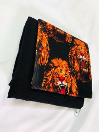 Lion Print Plain and Pattern Material - 2/2 yards