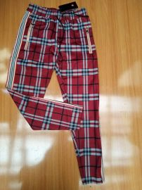 Men Checkered Joggers - Wine Multi