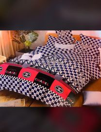 Chanel Print Bedsheets With Duvet