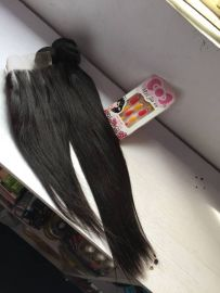 Straight Human Hair 22''  With Closure of 12''