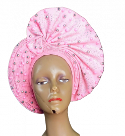 Pink Embellished Autogele With Stones