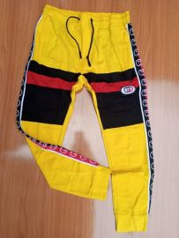 Men Checkered Joggers - Yellow Multi