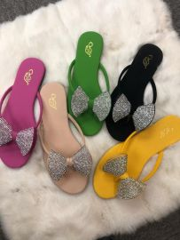 Ladies Leather Slippers With Bow