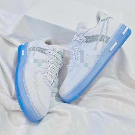 Clear Sole White Lace Up Sneakers