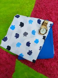 Apple Design Plain and Pattern Fabric