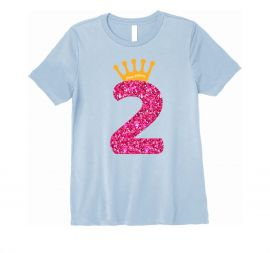 Number 2 Inscribed Birthday Tshirt