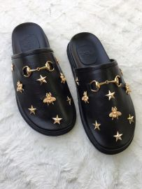 Leather Star Studded Half Shoe